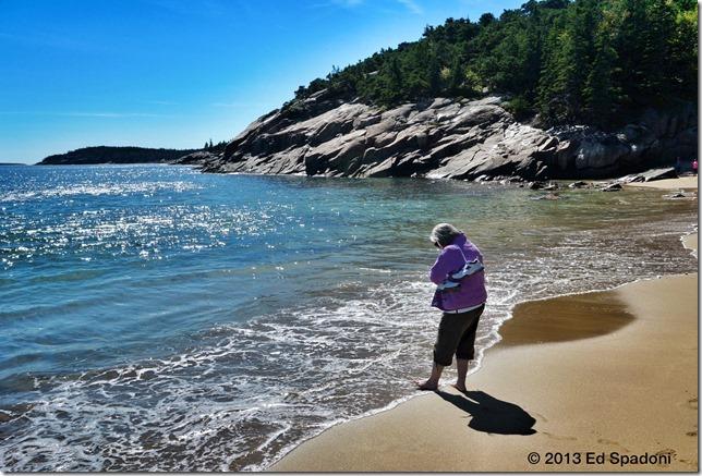 beach, acadia, sand beach, maine